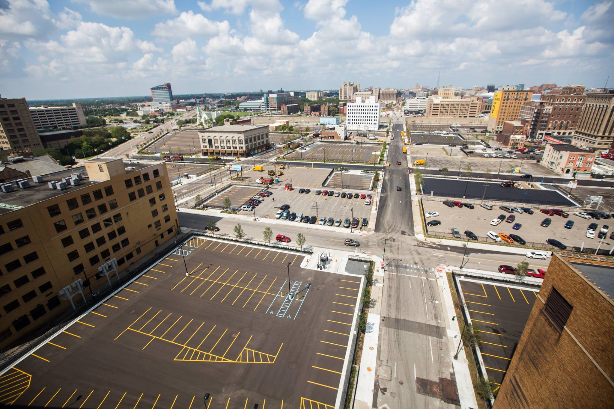 Downtown Detroit surface parking lots