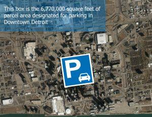 Downtown Detroit parking map