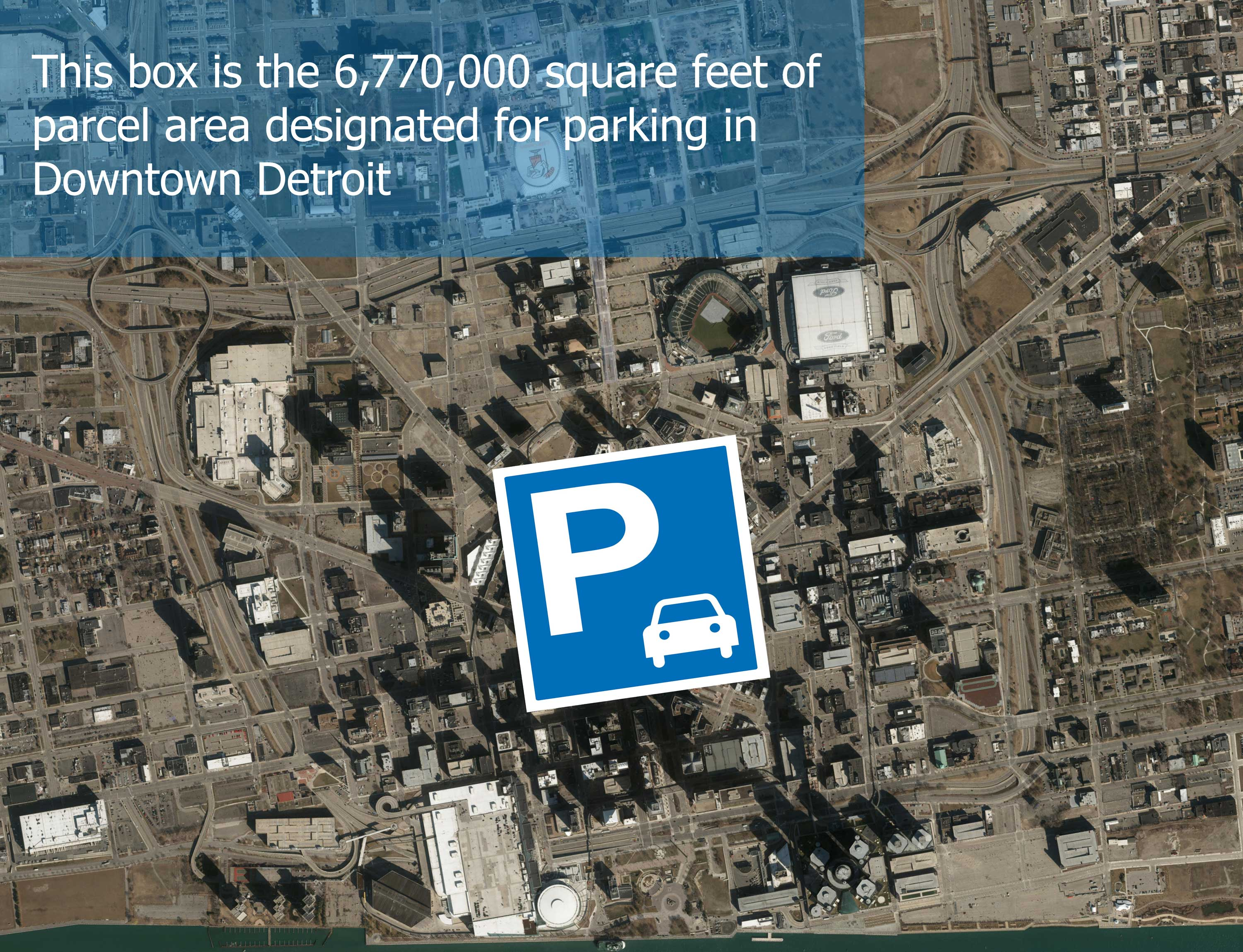 Downtown Detroit parking map