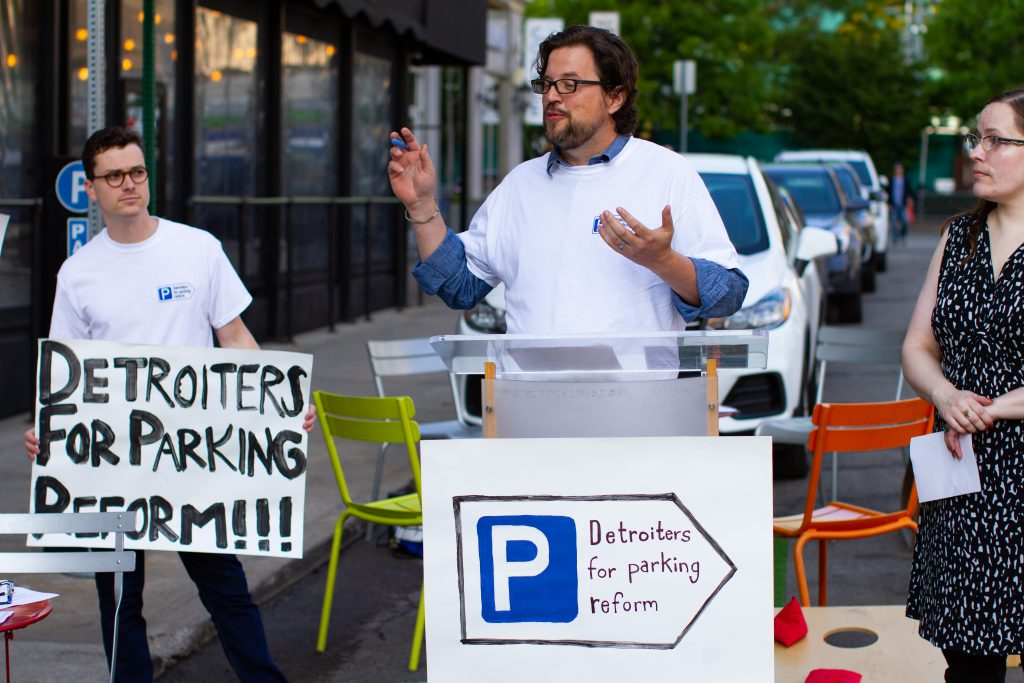 Detroiters for Parking Reform launch press conference