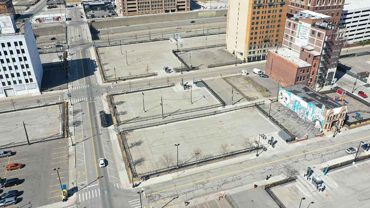 Detroit Foxtown aerial